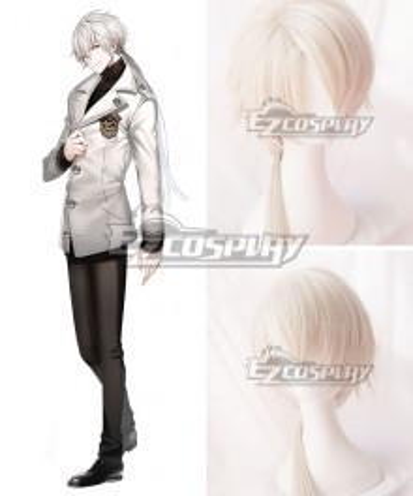 Mystic Messenger Zen White Cosplay Wig - B Edition