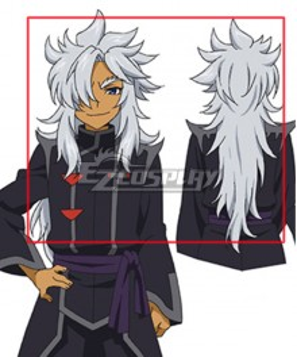 Future Card Buddyfight Rouga Aragami Silver White Cosplay Wig