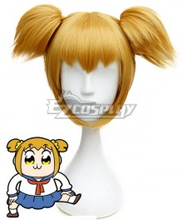 Pop Team Epic Poputepipikku Popuko Orange Yellow Cosplay Wig