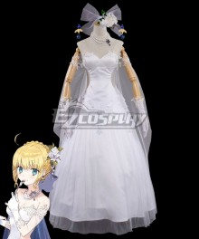 Fate Grand Order Avalon Celebrate Saber Artoria Pendragon Cosplay Costume