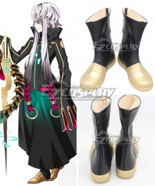 Fate Grand Order FGO Caster Asclepius Black Golden Shoes Cosplay Boots