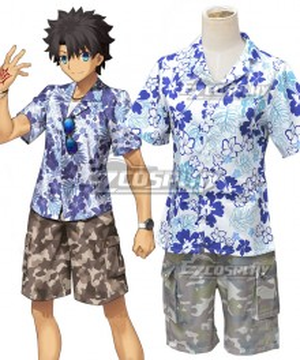 Fate Grand Order Ritsuka Fujimaru Tropical Summer Male Master Cosplay Costume