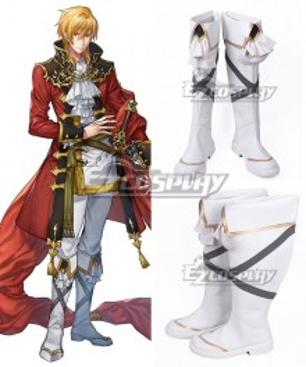 Fire Emblem: Seisen No Keifu Eltshan White Shoes Cosplay Boots