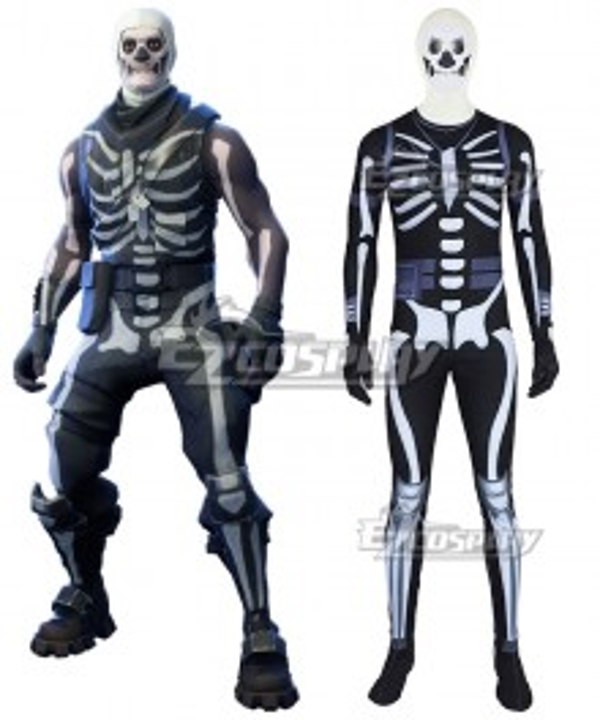 Fortnite Battle Royale Skull Trooper Cosplay Costume - Premium Edition
