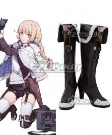 Girls' Frontline 2B14 Brown Shoes Cosplay Boots