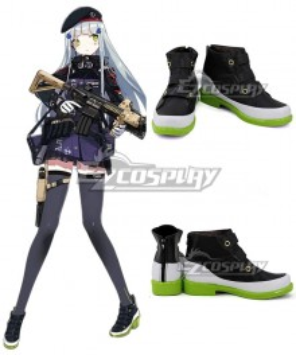 Girls' Frontline HK416 Black Cosplay Shoes