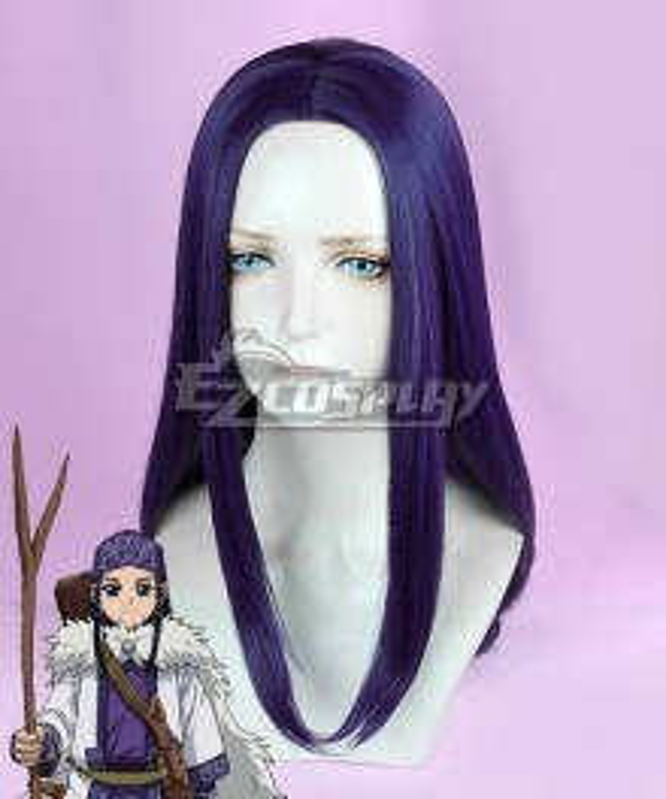 Golden Kamuy Asirpa Purple Cosplay Wig