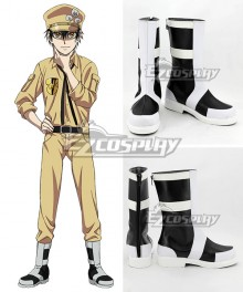 Gunjou no Magmel Inyou Black White Shoes Cosplay Boots