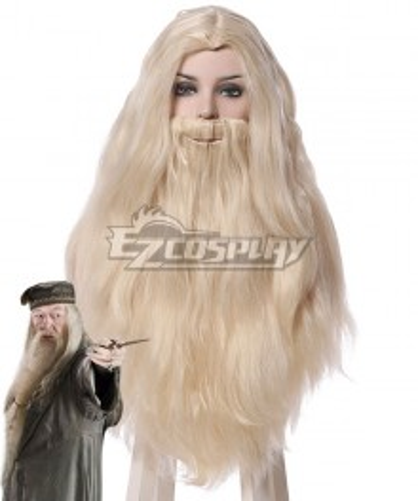 Harry Potter Albus Dumbledore Light Golden Cosplay Wig