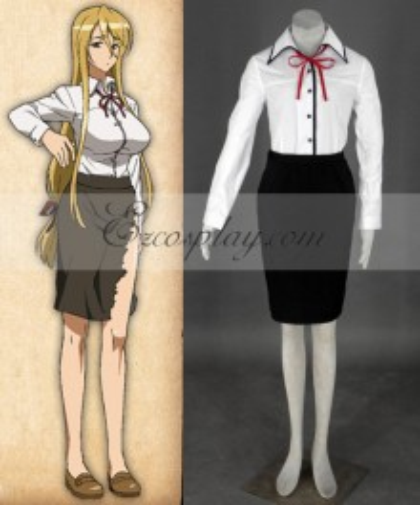 High School of the Dead Marikawa Shizuka Cosplay Costume