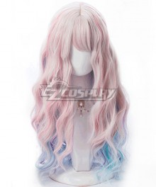 Japan Harajuku Lolita Series Unicorn Rainbow Color Cosplay Wig