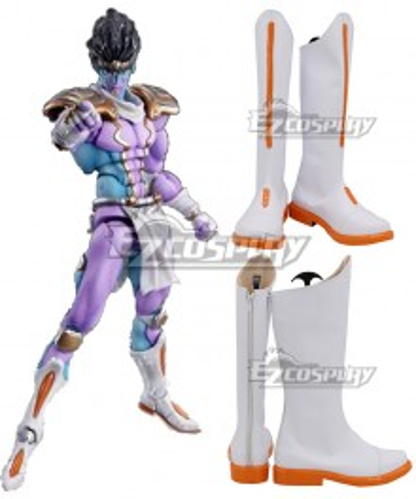 JoJo's Bizarre Adventure Jotaro Kujo Star Platinum White Shoes Cosplay Boots