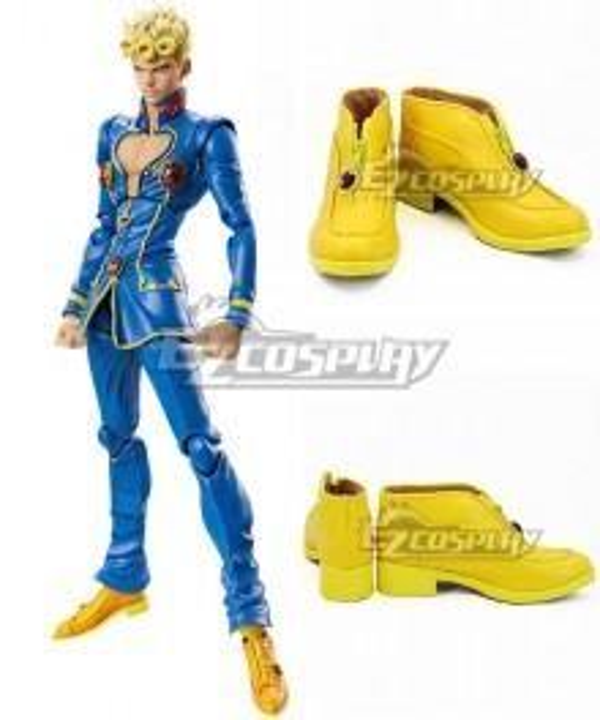 JoJo's Bizarre Adventure: Vento Aureo Golden Wind Giorno Giovanna Yellow Cosplay Shoes