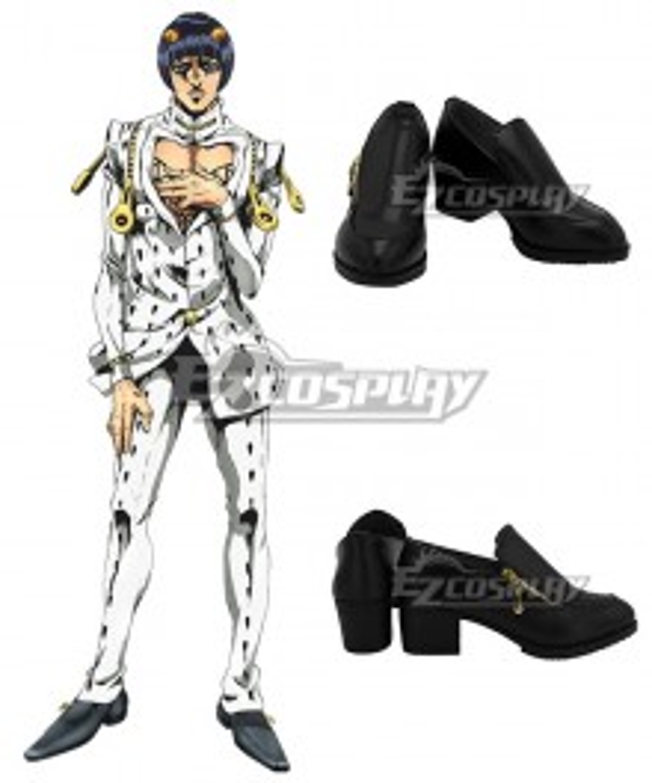JoJo's Bizarre Adventure: Vento Aureo Golden Wind Bruno Buccellati Bruno Bucciarati Black Cosplay Shoes
