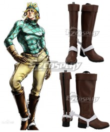 JoJo's Bizzare Adventure Diego Brando Brown Shoes Cosplay Boots