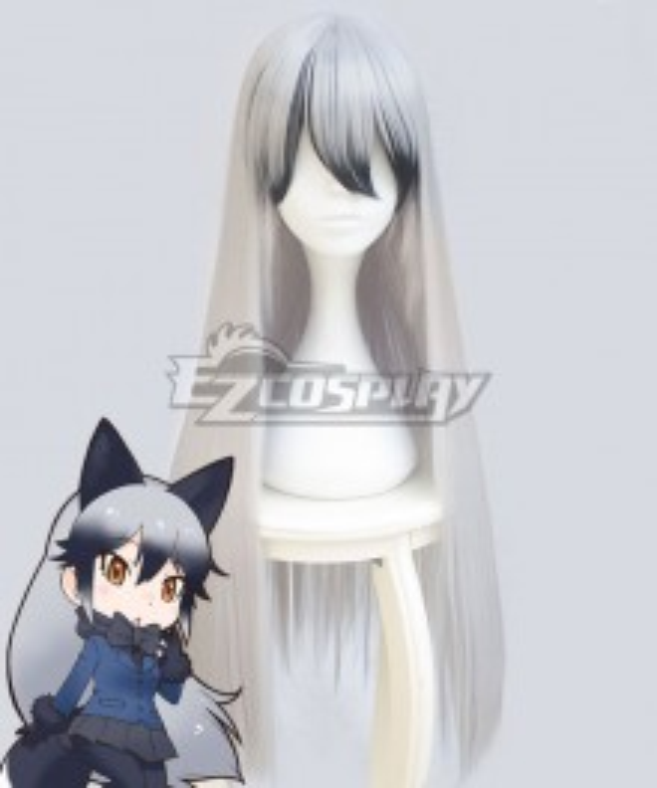 Kemono Friends Silver fox White Cosplay Wig