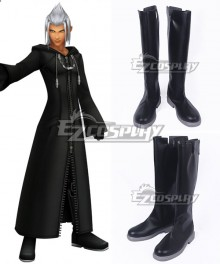 Kingdom Hearts Young Xehanort Black Shoes Cosplay Boots