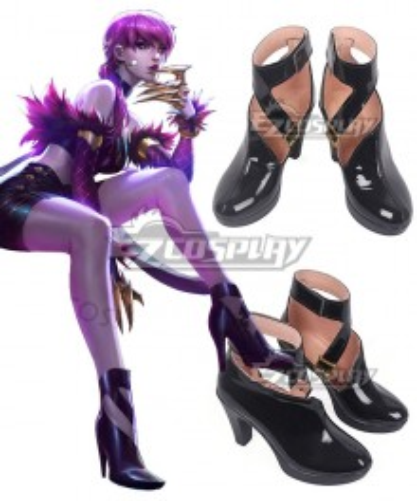 League Of Legends LOL K/DA Evelynn Black Cosplay Shoes