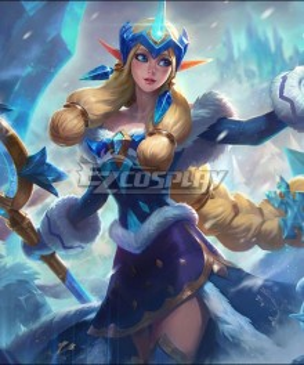 League Of Legends LOL Winter Wonder Soraka Skin Cosplay Costume