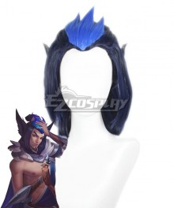 League of Legends Rakan SSG Skin Male Black Cosplay Wig
