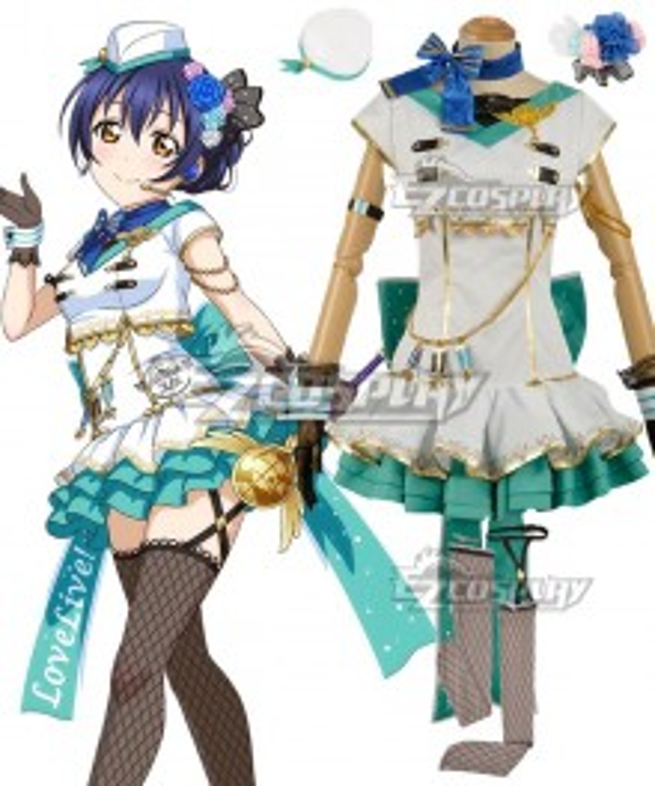 Love Live! Lovelive! Transformed Sky Umi Sonoda Cosplay Costume