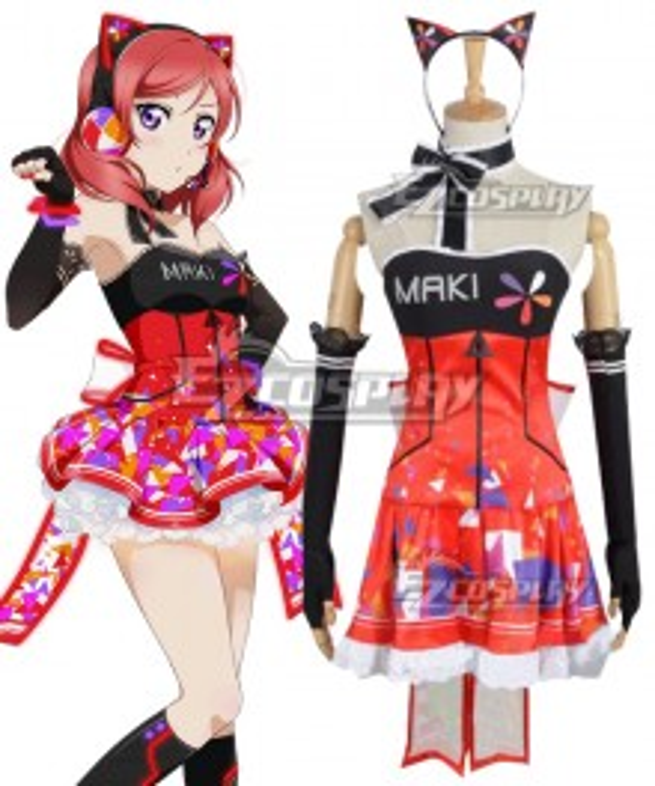 Love Live! lovelive! Cyber Idolized Gaming Game Awaken Maki Nishikino Cosplay Costume