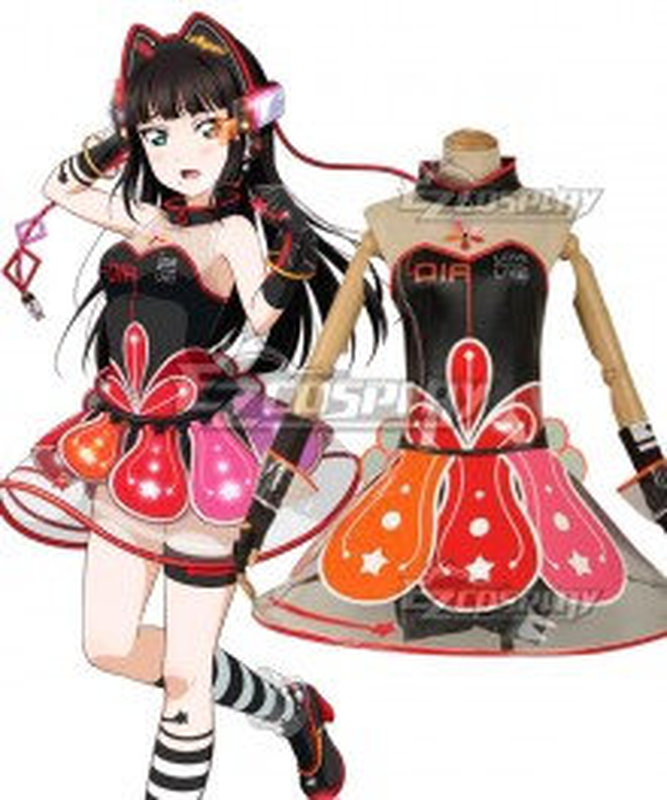 Love Live! lovelive! sunshine!! Cyber Idolized Gaming Game Awaken Dia Kurosawa Cosplay Costume
