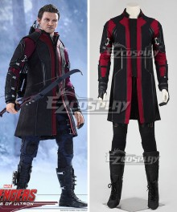 Marvel Avengers Age of Ultron Hawkeye Clinton Francis Barton Cosplay Costume