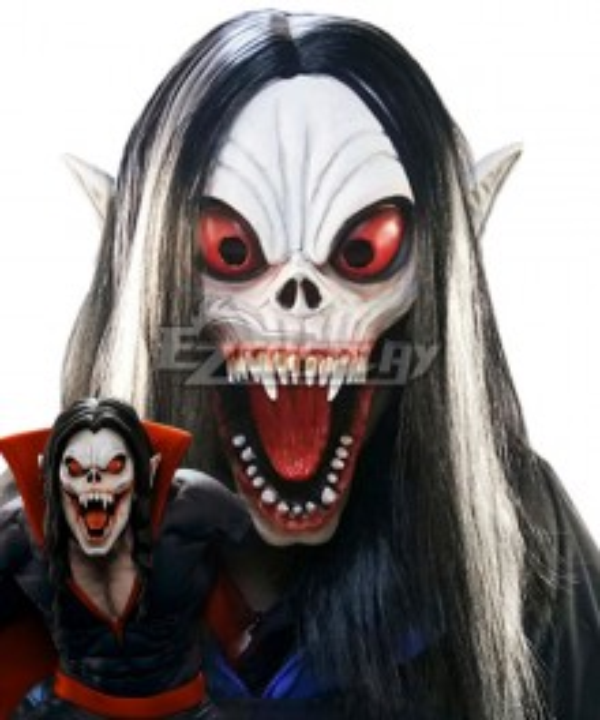 Marvel Comics Michael Morbius The Living Vampire Mask Cosplay Accessory Prop
