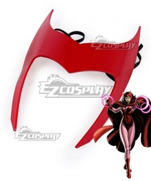 Marvel Comics Red Scarlet Witch Mask Cosplay Accessory Prop