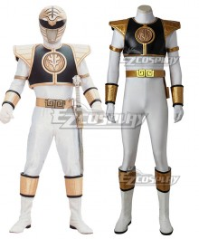 Mighty Morphin Power Rangers White Ranger Cosplay Costume - Without Boots