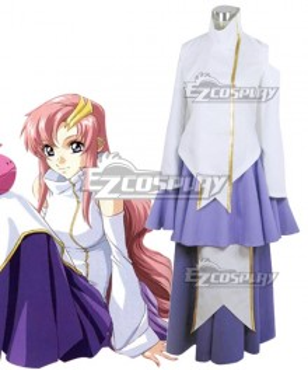 Mobile Suit Gundam Seed Lacus Clyne Cosplay Costume