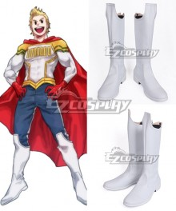 My Hero Academia Boku no Hero Academia Mirio Togata White Shoes Cosplay Boots