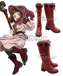 My Hero Academia Boku No Hero Akademia ED Ochako Uraraka Red Shoes Cosplay Boots