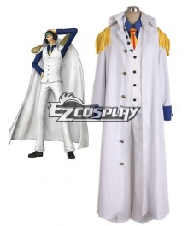 One piece Aokiji Kuzan Navy Admiral Uniform Cosplay Costume
