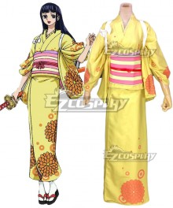 One Piece Wano Country Arc Kikunojo OKiku Kimono Cosplay Costume