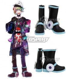 Ookami Game Wolf Game Iida Rintarou Black Shoes Cosplay Boots