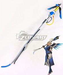 Overwatch OW Mercy Angela Ziegler Combat Medic Ziegler Staves Cosplay Weapon Prop