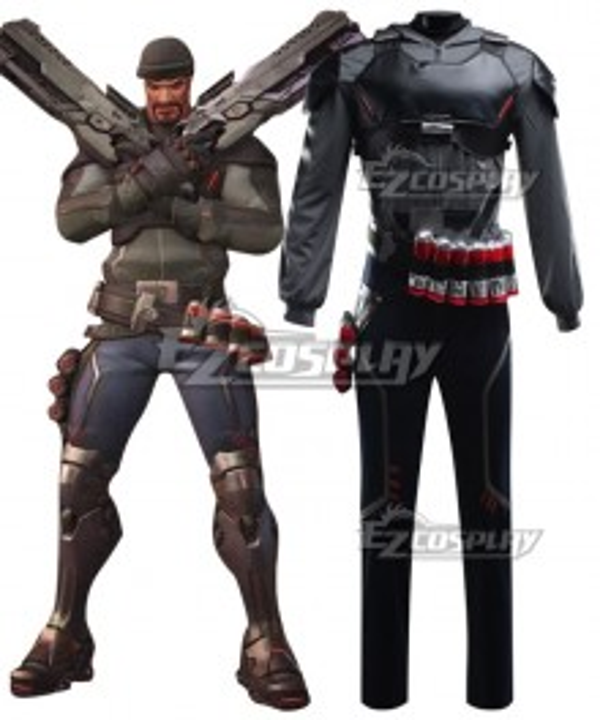 Overwatch OW Reaper Gabriel Reyes Blackwatch Cosplay Costume