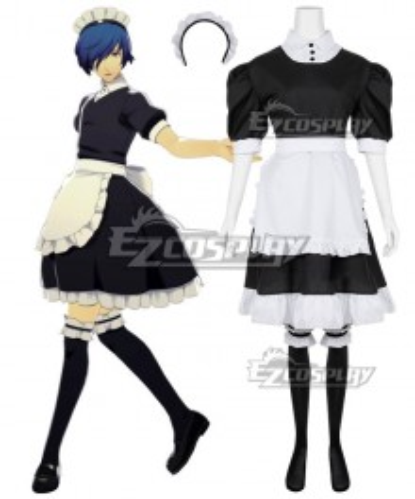 Persona 3: Dancing Moon Makoto Yuki Male Maid Look Cosplay Costume