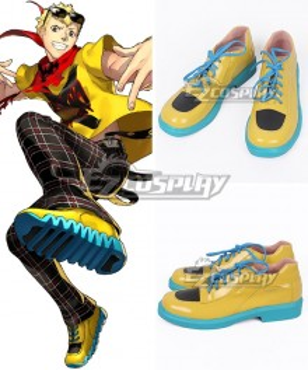 Persona 5: Dancing Star Night Ryuji Sakamoto Yellow Cosplay Shoes