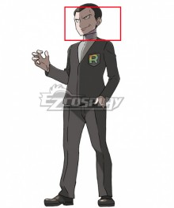 Pokémon Pokemon Ultra Sun and Ultra Moon Rocket Boss Giovanni Black Cosplay Wig