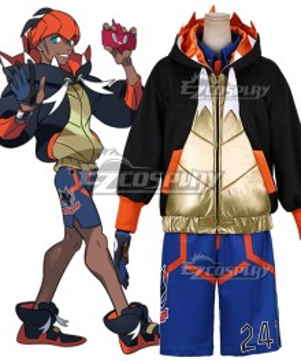 Pokemon Pokémon Sword and Shield Raihan Cosplay Costume