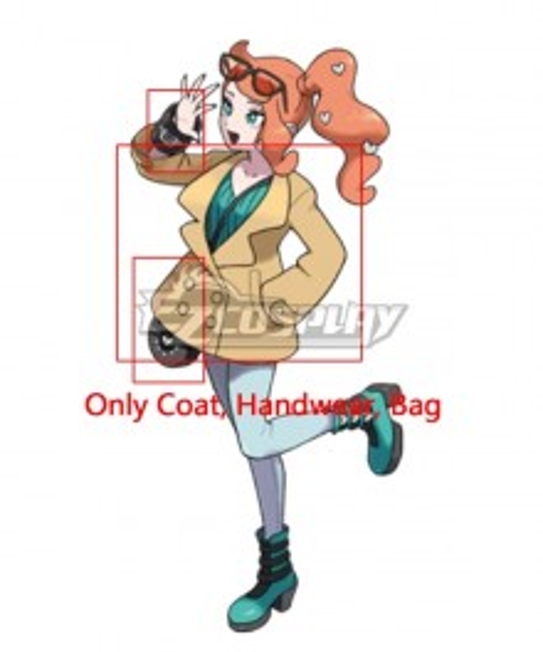 Pokemon Sword And Pokemon Shield Sonia Cosplay Costume - Only Coat, Handwear, Bag