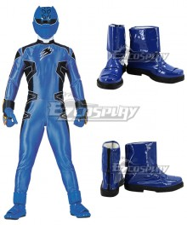 Power Rangers Jungle Fury Jungle Fury Blue Ranger Blue Cosplay Shoes