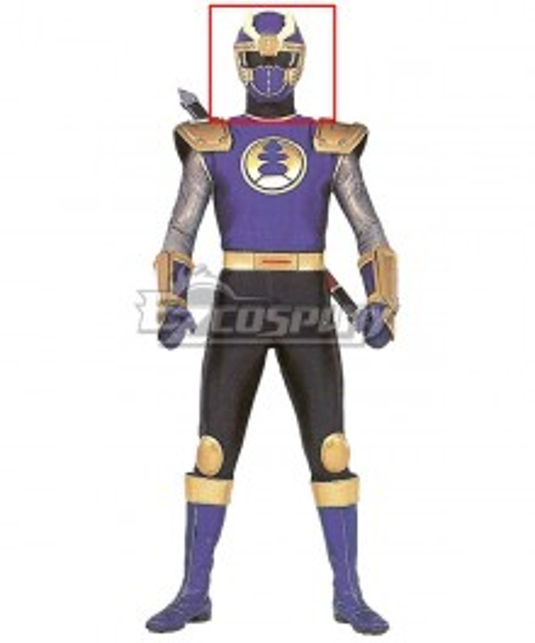 Power Rangers Ninja Storm Navy Thunder Ranger Helmet Cosplay Accessory Prop