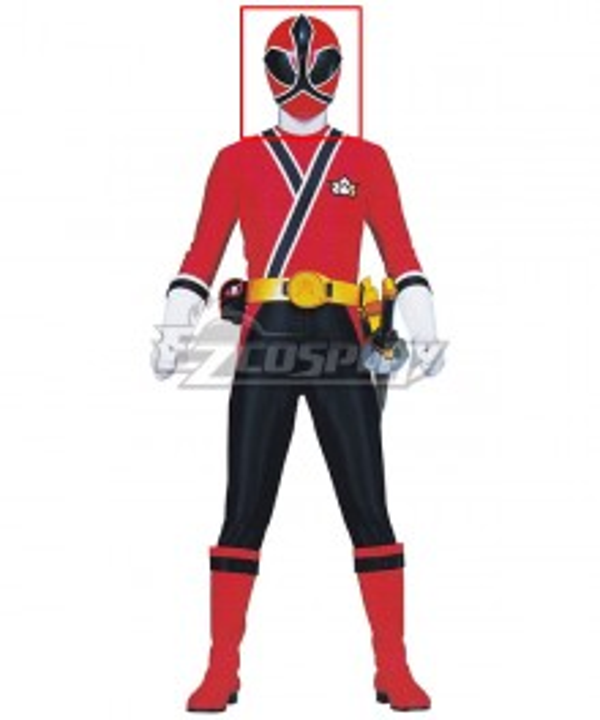 Power Rangers Samurai Red Samurai Ranger Helmet Cosplay Accessory Prop