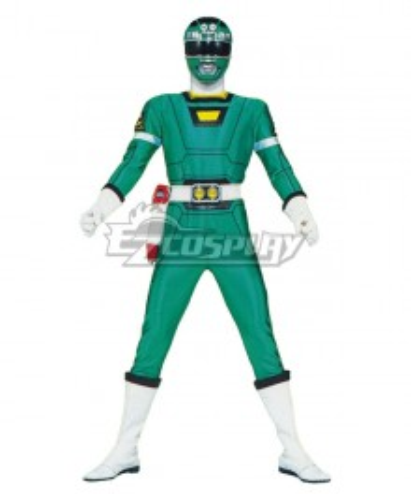 Power Rangers Turbo Green Turbo Ranger Cosplay Costume