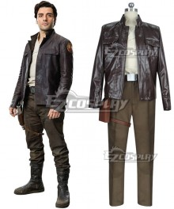 Star Wars 8: The Last Jedi Poe Dameron Cosplay Costume
