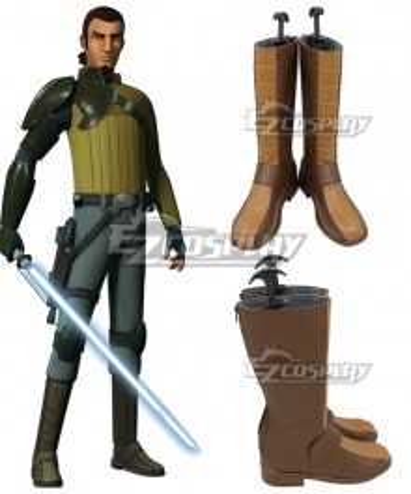 Star Wars Rebels Kana Jarrus Brown Shoes Cosplay Boots